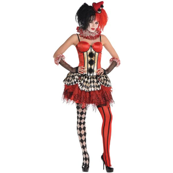 Adults Clown Corset Halloween Fancy Dress Outfit Accessory